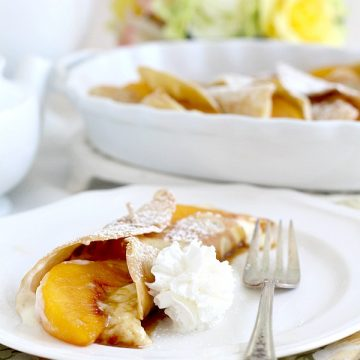 Peaches and Cream Cheese Crepes