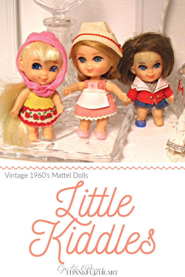 Tiny and adorable, vintage 1960's Little Kiddles dolls from Mattel include Calamity Jiddle and Florence Niddle. Sweet childhood memories!