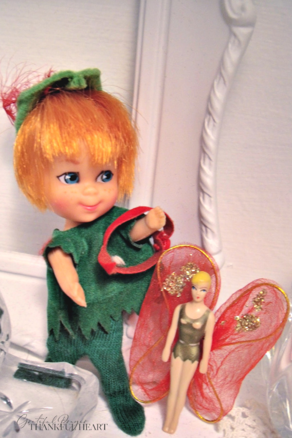 Tiny and adorable, vintage 1960's Little Kiddles dolls from Mattel including Peter Paniddle Kiddle.