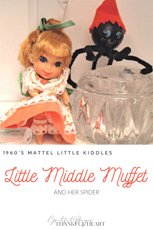 Tiny and adorable, vintage 1960's Little Kiddles dolls from Mattel including Little Middle Muffet