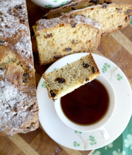 What would St Patrick's Day be without a traditional loaf of Irish Soda bread. And today is a good reason to bake up a loaf even if you aren't Irish. This easy recipe is just perfect with a cup of tea and yet hearty enough to serve along side a meaty entree.