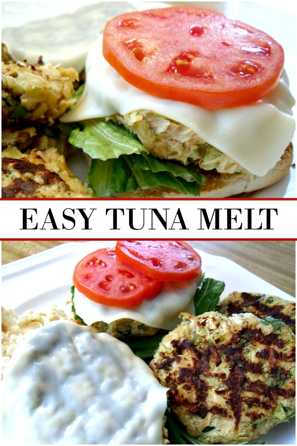 Easy recipe for tuna melt patties are great for lunch or a quick and easy dinner. Add a bowl of soup and some chips and you've got a complete meal.