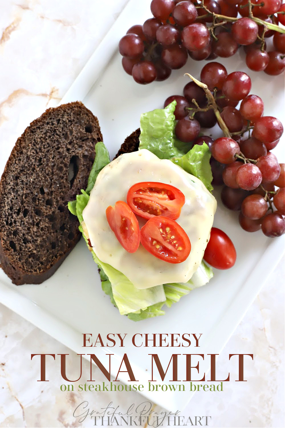 Easy cheesy tuna melt. Classic tuna melt patties are really simple to make and make a warm and tasty lunch or light dinner. Serve on steakhouse brown bread, toasted bun or English Muffin.