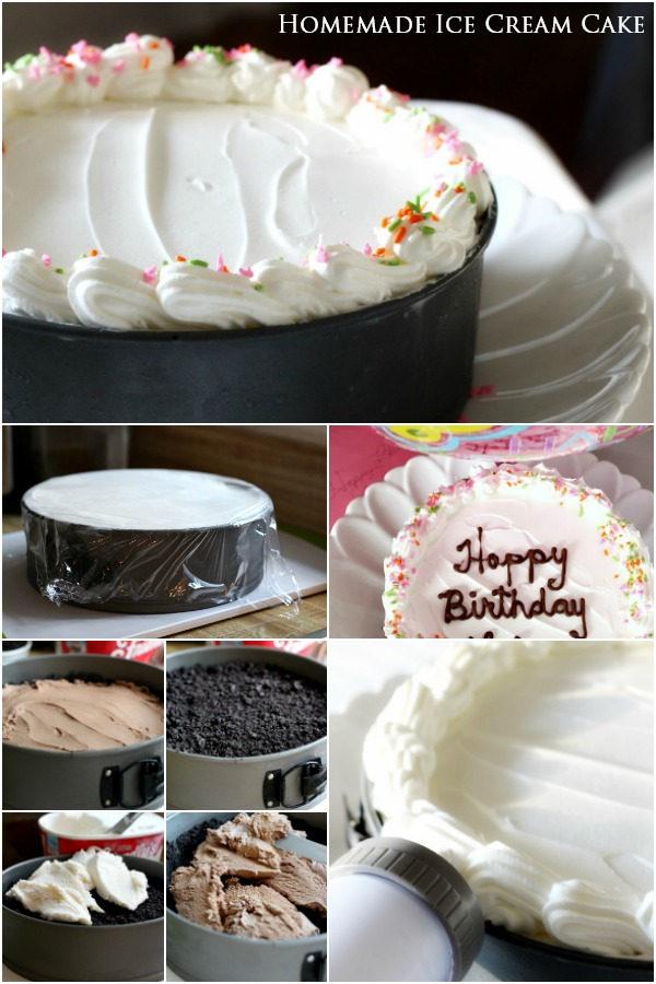 Save a bundle and make your own homemade Birthday Ice Cream Cake using your favorite flavors. Easy, no baking and everyone's favorite party dessert.