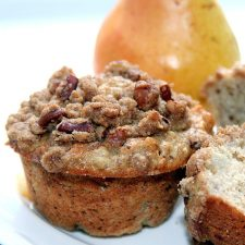 Spiced Pear and Walnut Muffins