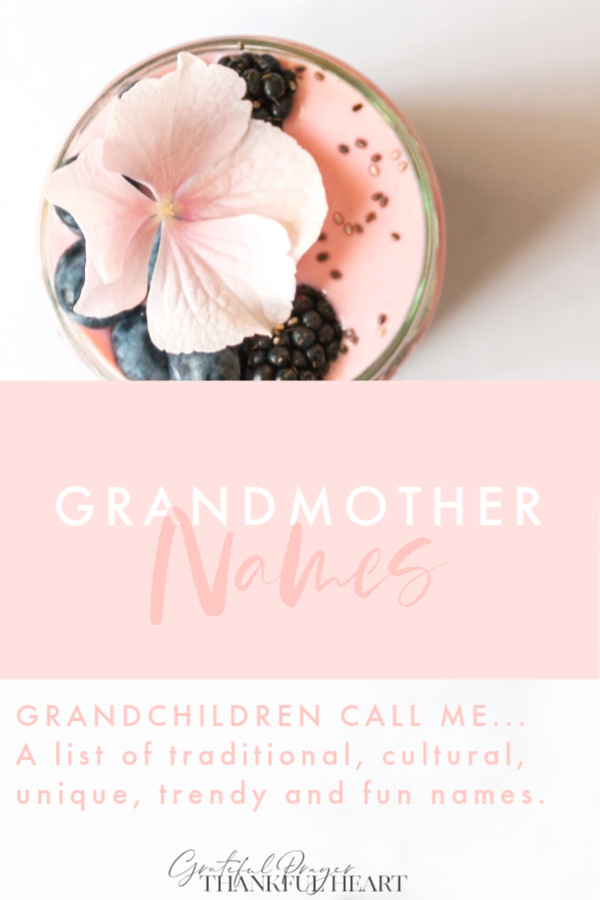 What do your grandchildren call you? Is it a traditional name or a cute nickname? Trendy or cultural? Any name would sound sweet coming from a grandchild.