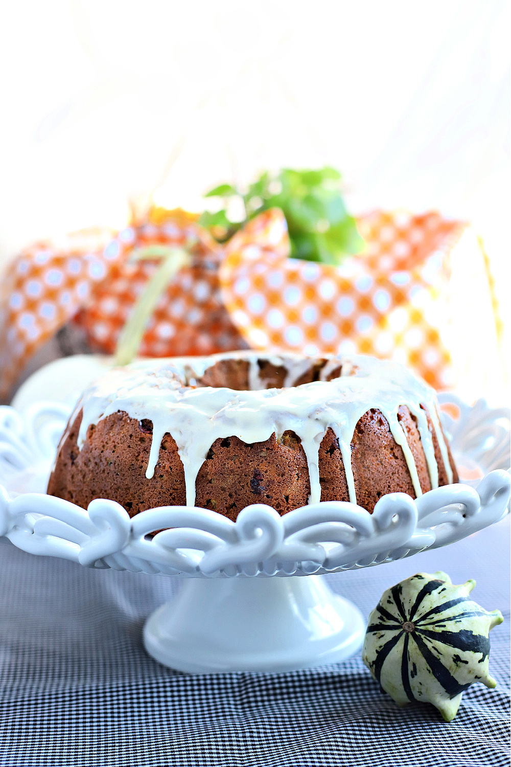 Easy recipe for a lovely Thanksgiving Bundt Cake dessert with all of the flavors of the season.