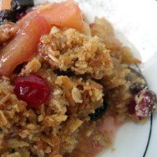 Dorie Greenspan Recipe for  Cran-Apple Crisp
