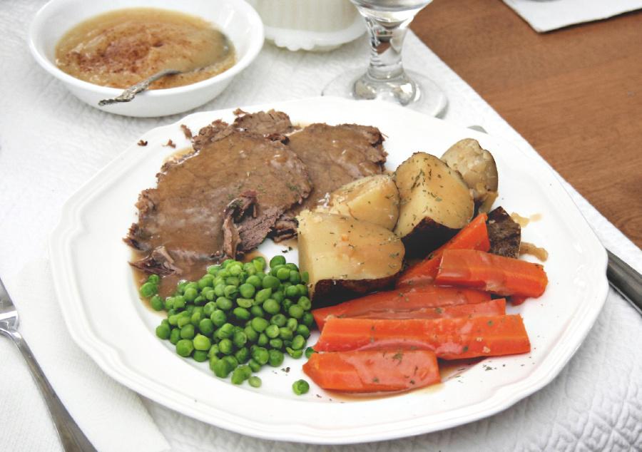 Pot Roast Dinner Grateful Prayer Thankful Heart
