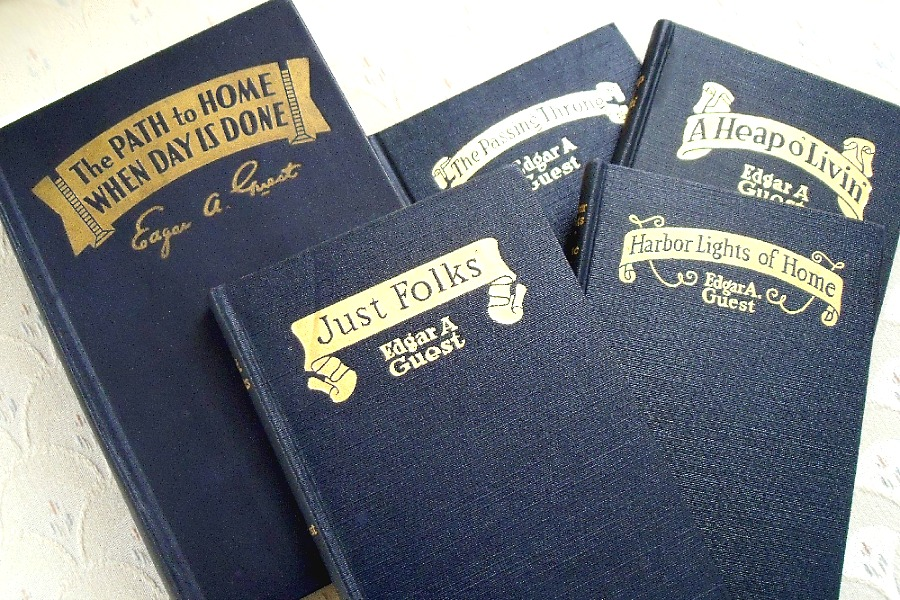Collection of vintage books by Edgar Albert Guest, a prolific American poet who was popular in the first half of the 20th Century and became known as the People's Poet.