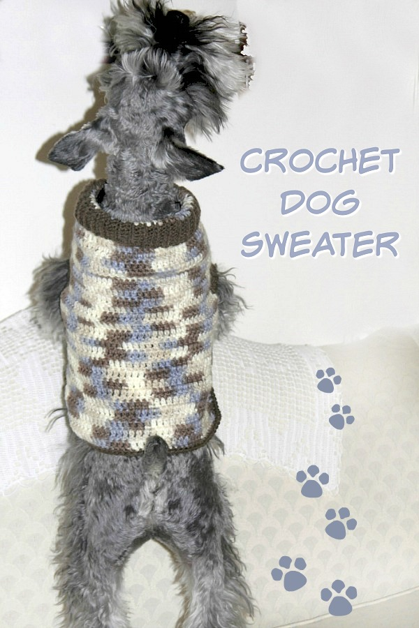 Keep you puppy warm and cozy with a crocheted dog sweater in your favorite color with this how-to pattern.