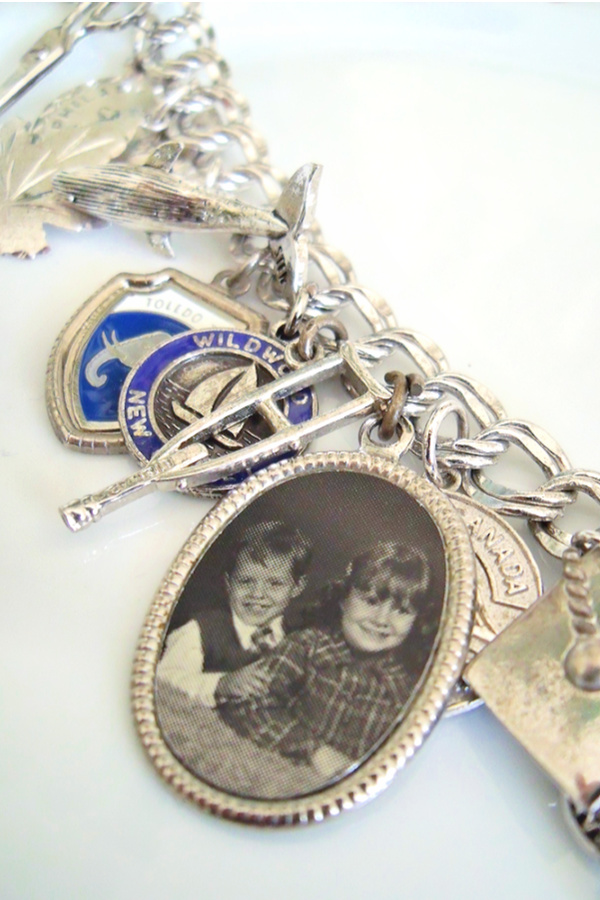 Collecting silver charms for a charm bracelet to celebrate special events to fill a bracelet was popular with girls in the 1950's through the 1970's.