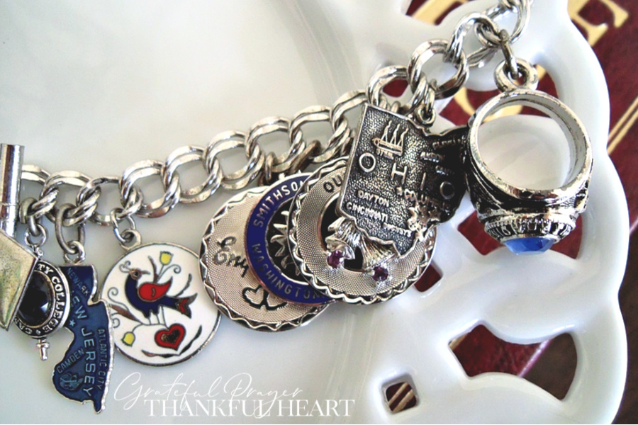 Did you have a charm bracelet when you were a young girl? Collecting silver charms celebrating special events and meaningful things in life to fill a bracelet was popular in the 70's.