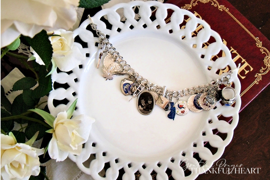 Did you have a charm bracelet when you were a young girl? They were popular with American teenagers beginning in the 1950's through the 1970's and a lovely way to mark important events and meaningful things in life.