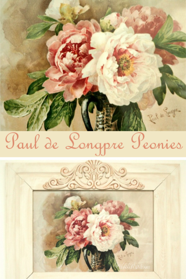 Beautiful Peonies work by Paul de Longpré (1855-1911), a French flower painter, active chiefly in the United States. He was born in Lyons, France, and was entirely self-taught.