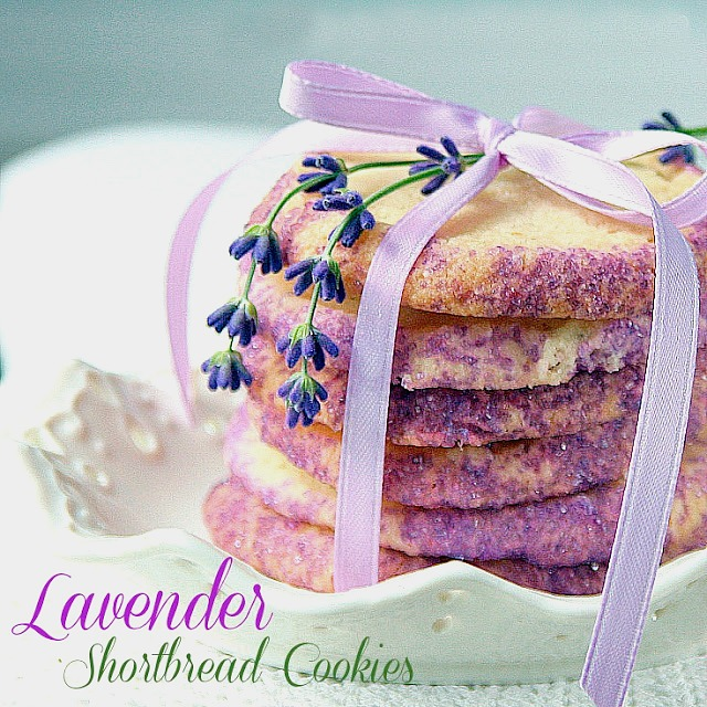 Buttery Lavender Shortbread Cookies with a lovely and unique hint of lavender and mint make these cookies extra special. Perfect with a cup of English Tea.