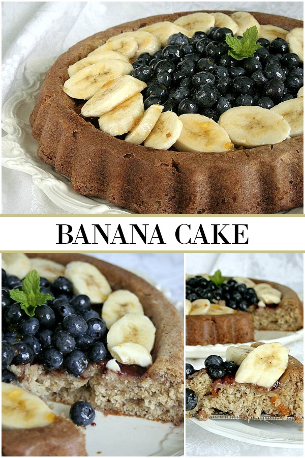 Banana Cake is a lovely cake that can be made in lots of different ways adding or omitting just the flavors you like. A perfect dessert for any occasion.