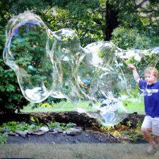 Giant Bubbles Fun Summer Activity with Grandchildren