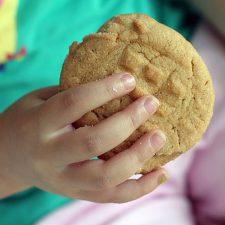 Baking Peanut Butter Crisscrosses with my Helper ~ TWD