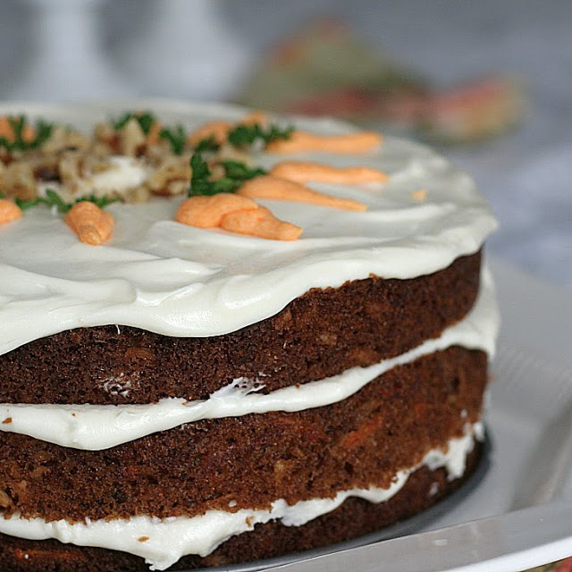 Kay's Carrot cake with cream cheese frosting