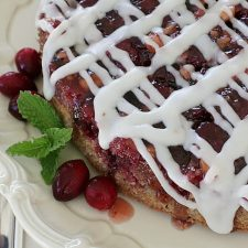 Cranberry Upside Downer Cake