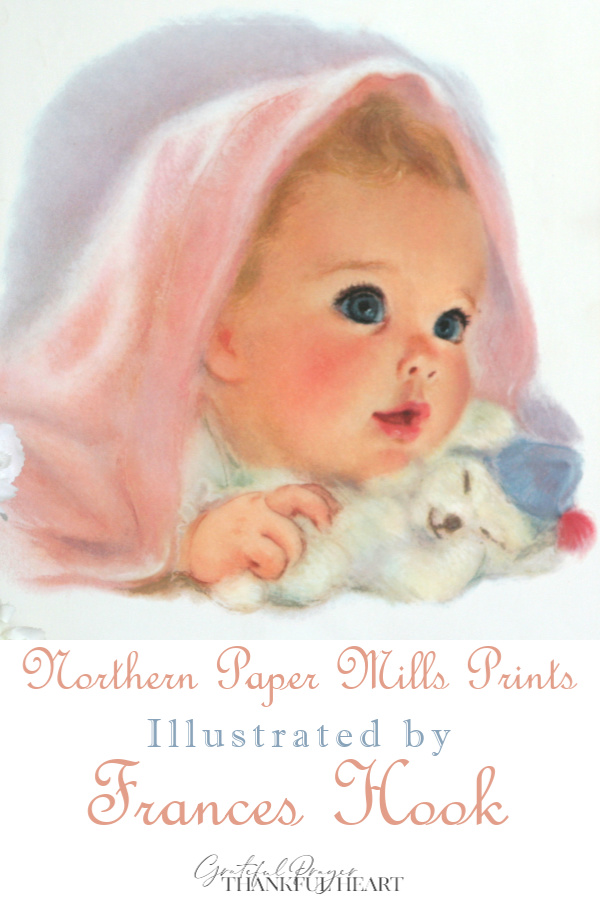 Series titled, American Beauties, children prints illustrated in soft pastels by Frances Hook were promotional prints from Northern Paper Mills, later Northern Tissue.