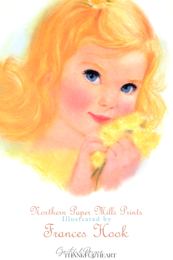 Promotional prints for Northern Paper Mills, later Northern Tissue, titled, American Beauties. Sweet children in soft pastels by illustrator, Frances Hook.