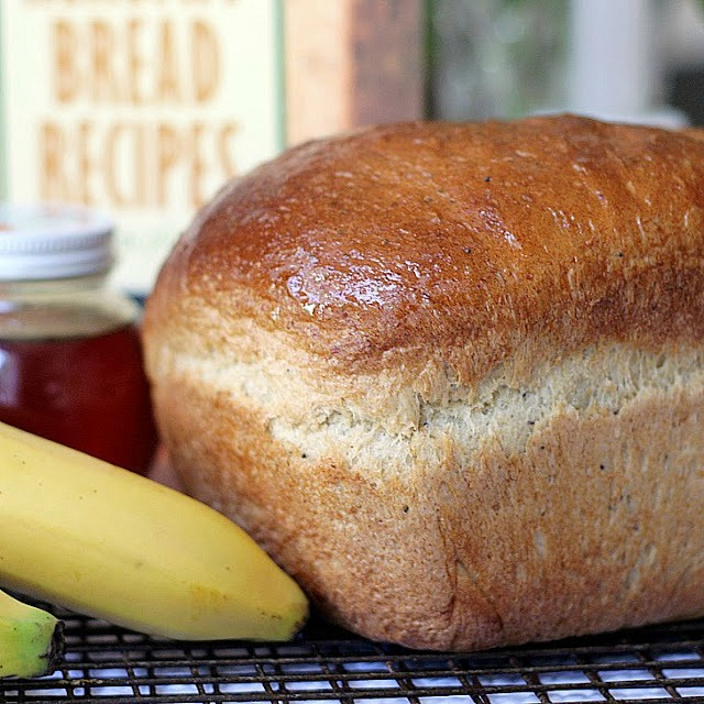 Don't toss out those extra bananas over-ripening on the counter. Very ripe bananas are a great reason to bake a loaf of Honey Banana Whole Wheat Bread. Banana, honey and poppy seeds give this bread a light, fluffy texture.Use a bread machine to make the dough then bake in a loaf pan or let the machine complete the whole process.