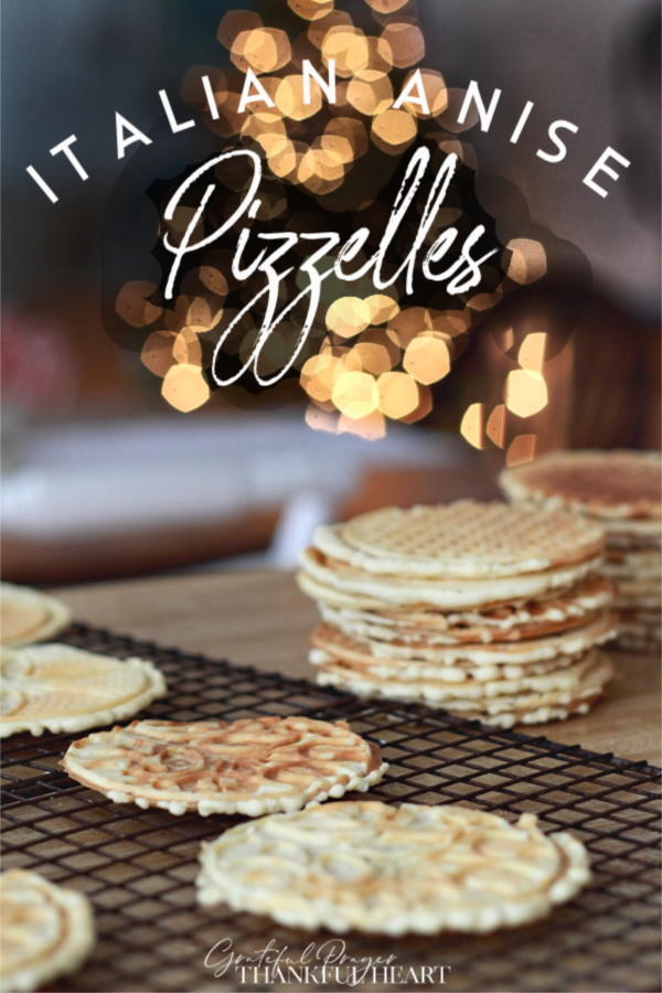 Oh, the amazing pop of flavor of anise in this crisp and buttery Italian wafer cookie. An easy recipe made with a pizzelle maker for your Christmas cookie tray or dessert table.