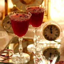 Pomegranate Vinaigrette & Pomegranate Champagne Toast for New Year's Eve