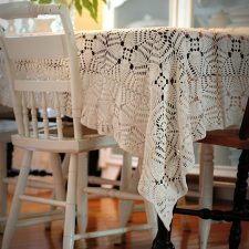 Vintage Crocheted Tablecloth