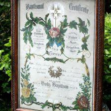Vintage Baptismal Certificate