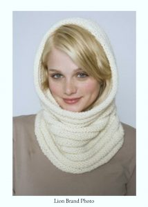 Lion Brand Knitted Cowl Pattern