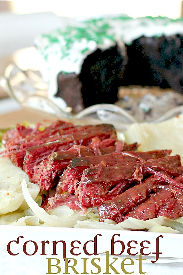 Celebrate St Patrick's Day with corned beef brisket with a mustard glaze that adds a subtle sweetness and a nice browned top on the meat.