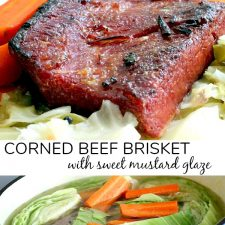 Corned Beef Brisket with a Mustard Glaze
