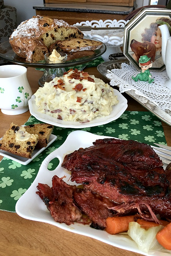 Making corned beef brisket is a tradition for St. Patrick's Day dinner. Follow the easy cooking directions on the package but take it one step further. Corned beef brisket with a mustard glaze adds a subtle sweetness and a nice browned top on the meat.