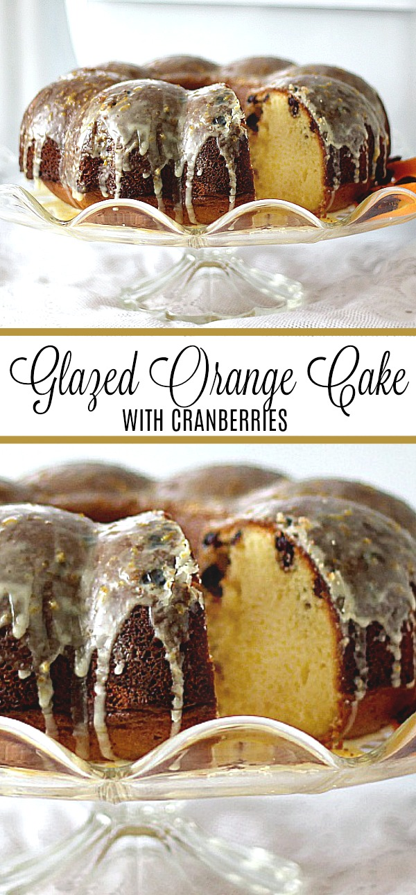 Fresh Orange Cake with Cranberries is an easy cake to prepare using a doctored cake mix and adding fresh orange juice, dried cranberries and a light glaze.