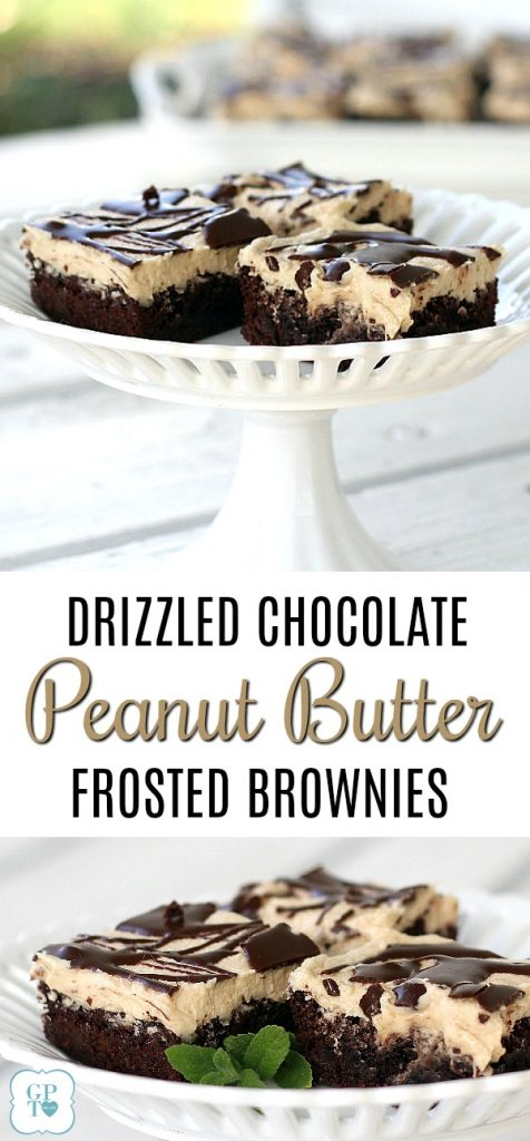A perfect combination of chocolate and peanut butter, these frosted peanut butter brownies are a hit for parties, tailgating and after-school snacking.
