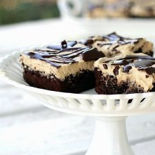 Chocolate Glazed Peanut Butter Frosted Brownies