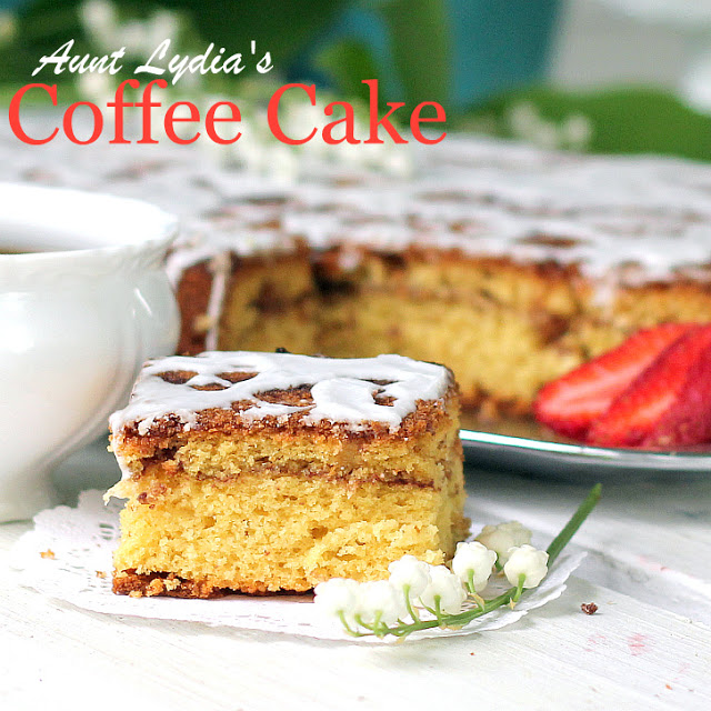 Aunt Lydia's coffee cake is a family favorite from a vintage recipe my mother in law made for every get-together. Easy and delicious.