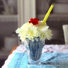 Fresh Flower Ice-Cream Sundae Craft Project