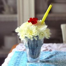 Fresh Flower Ice-Cream Sundae Craft Project