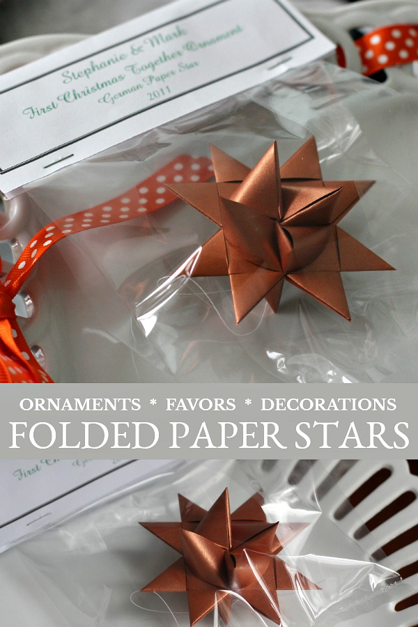 Paper folded German stars are easy to make with this step-by-step video tutorial. Also called Frobel or Moravian stars, you will want to make dozens!