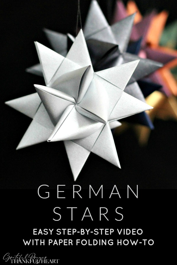 Folded paper German stars remind many of childhood when they were made at Christmas time. Easy to follow, step-by-step video tutorial teaches you how.