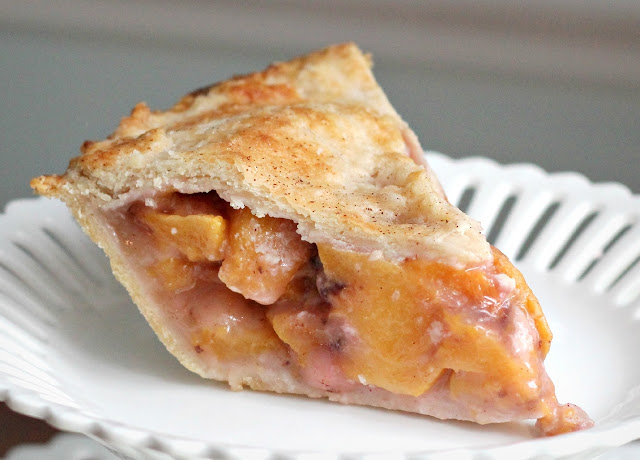 esh Peach Pie made with a homemade pie crust for a perfect summertime dessert. Easy recipe for crust or use a purchased crust for ease and to save time.