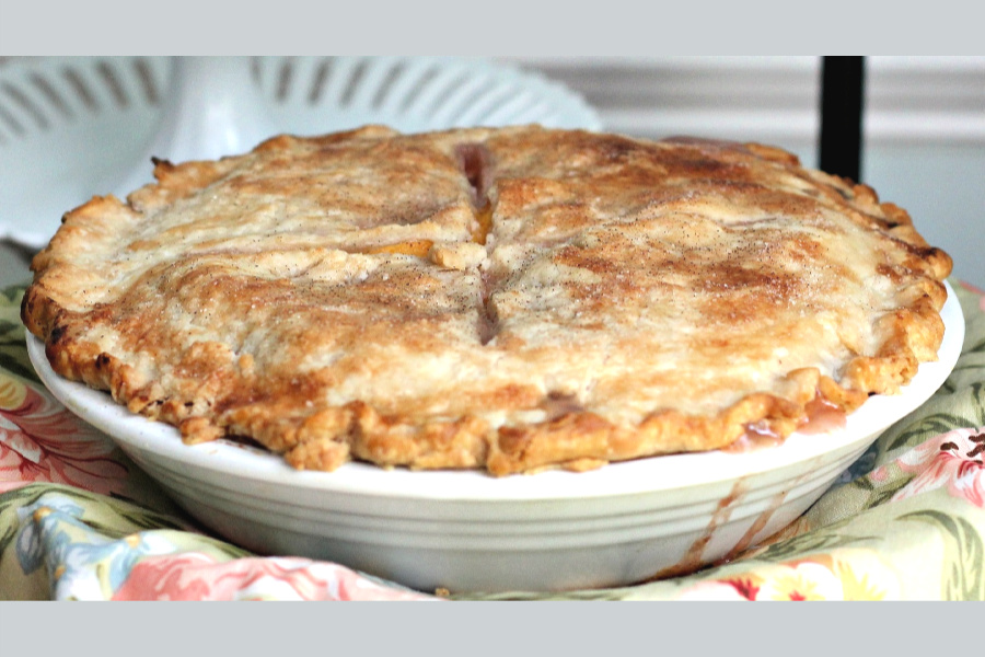 Use a purchased or homemade pastry crust to make a summer time favorite. Easy recipe for a fresh peach pie.