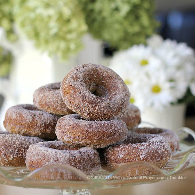 "Debate remains as to how to spell these circular wonders of dough. Spell ""donut"" or ""doughnut"", there is no debate about enjoying homemade, donuts. The only decision is whether to choose frosted, rolled in cinnamon sugar, confectioners' sugar or a perfectly plain doughnut. Skip the frying with this easy baked version."
