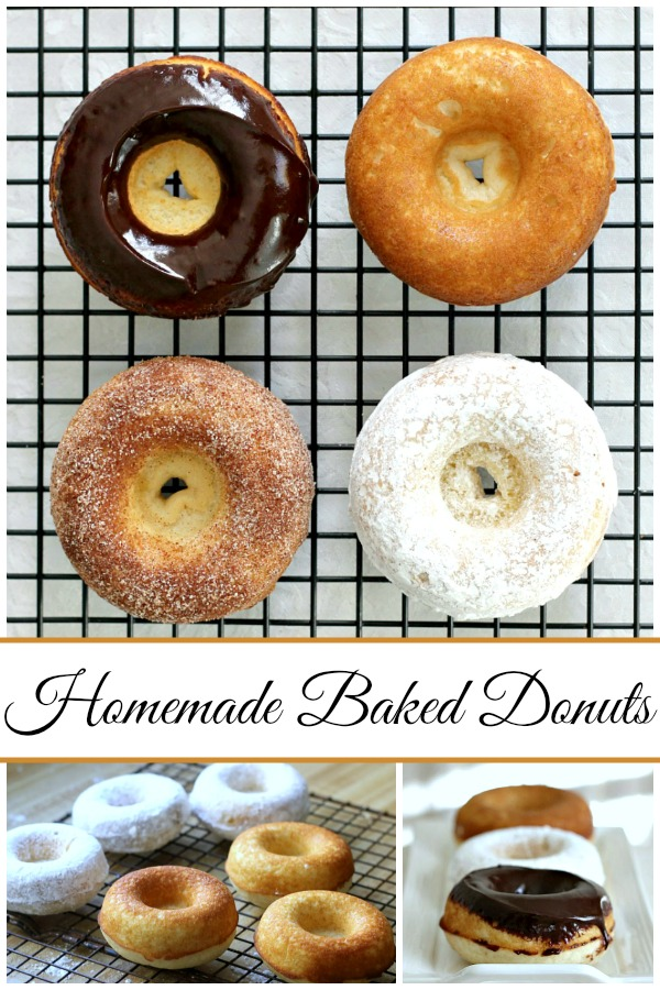 """Debate remains as to how to spell these circular wonders of dough with the hole in the center. Spell """"donut"""" or """"doughnut"""", there is no debate about enjoying homemade, baked donuts. The only decision is whether to choose frosted, rolled in cinnamon sugar, confectioners' sugar or a perfectly plain doughnut. Skip the frying with this easy baked version."""