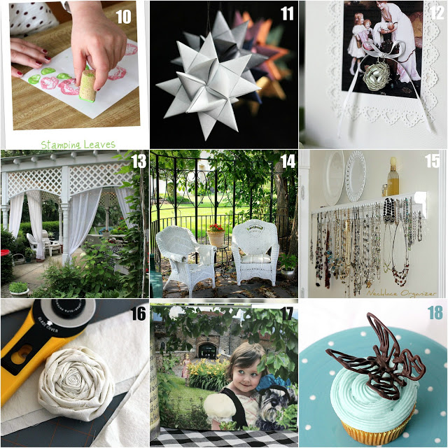 Get inspired by this Craft Project Recap. It includes projects for knitting, crochet, paper crafts, and DIY patio and yard projects.