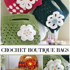 Crochet Boutique Bags with Flower